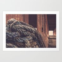 At the end of my rope Art Print