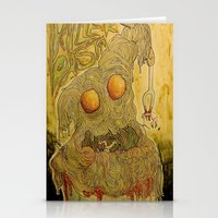 pasta Stationery Cards featuring Killer Pasta by Marcelo O. Maffei