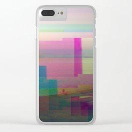 SCRATCHED DISK - Glitch Art Print Clear iPhone Case