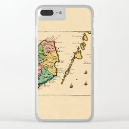 Map Of Grenada 1758 Clear iPhone Case