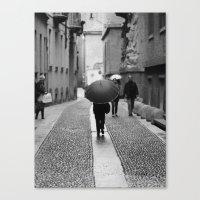 umbrella Canvas Prints featuring Umbrella by TOM MARGOL