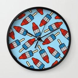 Rocket Popsicle Pattern Wall Clock