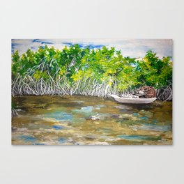 Florida Mangrove Tea Water in the Everglades Canvas Print