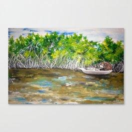 Florida Mangrove Tea Water in the Everglades Canvas Print