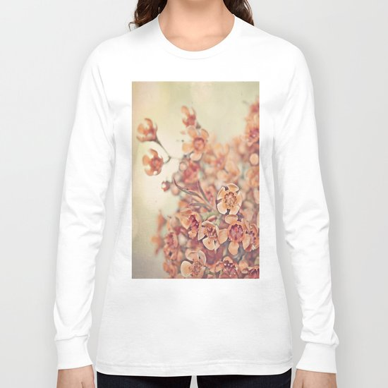 Orange Waxflowers Long Sleeve T-shirt