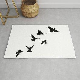 Crows (Black) Rug