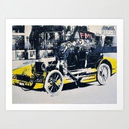 FML Taxi Art Print