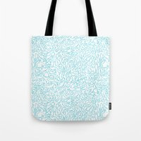 sharks Tote Bags featuring Sharks! by Ptchew