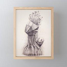 Owl Trumpet Box Framed Mini Art Print