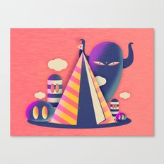 Temple Haze Canvas Print