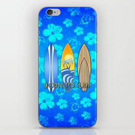 Born To Surf Hawaiian iPhone Skin