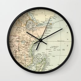 North East Africa Vintage Map Wall Clock