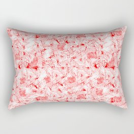 Red tropical leaves pattern Rectangular Pillow
