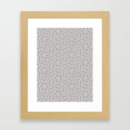 Seamless vector pattern overlay. Tiny hand drawn irregular speckles shapes. Framed Art Print