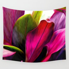Ti Leaf Bouquet Wall Tapestry