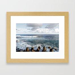 Wave Tone Framed Art Print