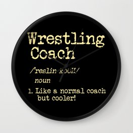 Wrestling Coach Gift I Greco Roman I Cool Definition Wall Clock
