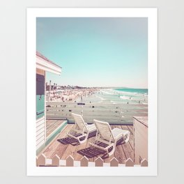Crystal Pier Cottages at Pacific Beach, San Diego, California Art Print
