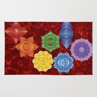 chakra Area & Throw Rugs featuring Root Chakra by Gypsy Owl Productions