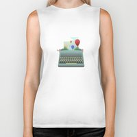 write Biker Tanks featuring Write your story by Moremo