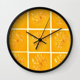 Taking Flight - Yellow Orange & Red Palette Wall Clock