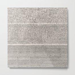 The Rosetta Stone // Antique White Metal Print