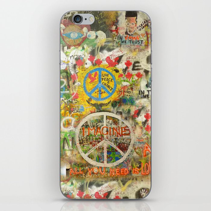 Peace Sign - Love - Graffiti iPhone Skin