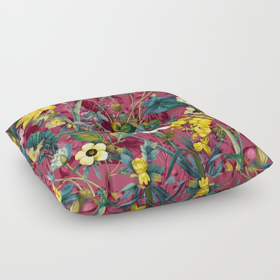 Exotic Floor Pillows : EXOTIC GARDEN VII Floor Pillow by Burcu Korkmazyurek Society6