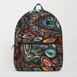 The Jubes - repeating pattern of small candy like glass shapes Backpack