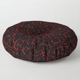 Stylish black red tiles pattern Floor Pillow