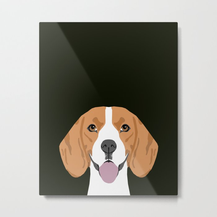 Darby - Beagle gifts for pet owners and dog person with a beagle Metal Print