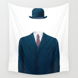 Man In a Bowler Hat by Rene Magritte, Artwork For Prints, Posters, Tshirts, Bags, Men Women, Kids Wall Tapestry