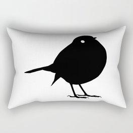 Bird Black Silhouette Animal Pet Cool Style Rectangular Pillow