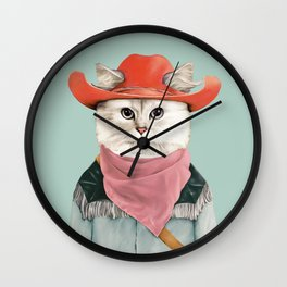 Rodeo Cat Wall Clock