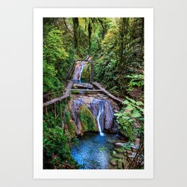 Valley of 33 waterfalls Art Print