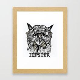 Hispter owl background Framed Art Print