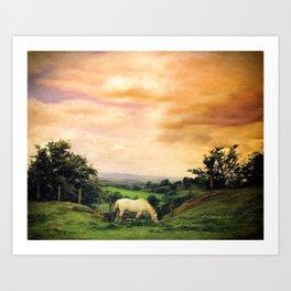 Farmland in Cumbria Art Print