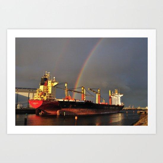 Cargo Fleet Art Print
