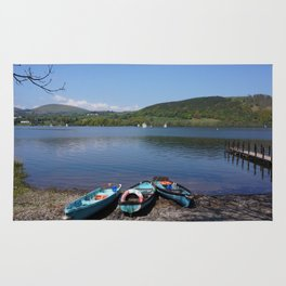 The Lake District - Boating on the Lake Rug