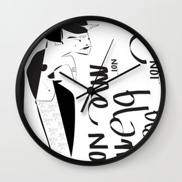 Blame me not - Emilie R. Wall Clock