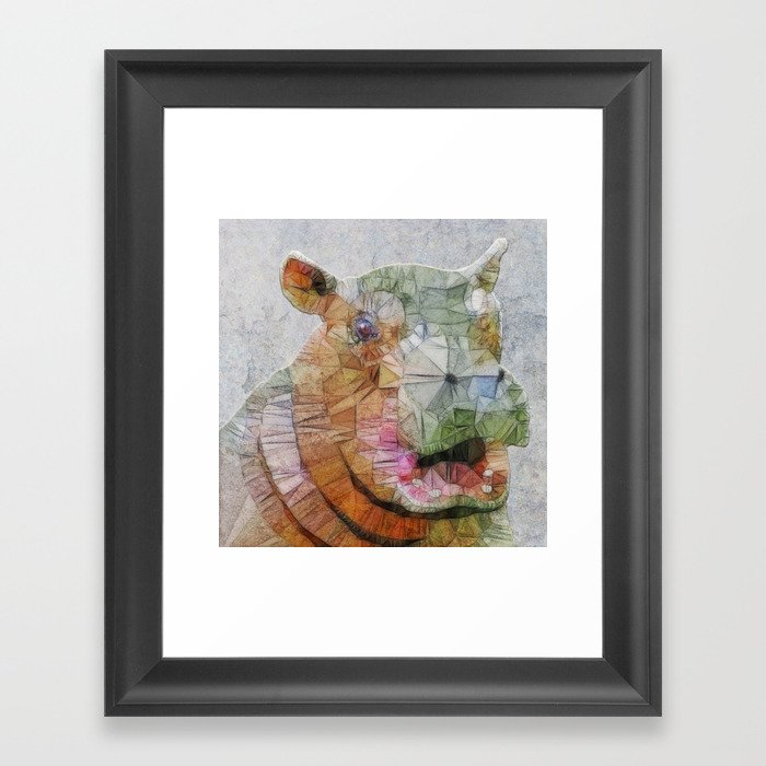 abstract hippo Framed Art Print