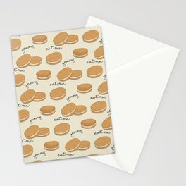 Brown cookies Stationery Cards