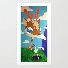 DeerHead Art Print