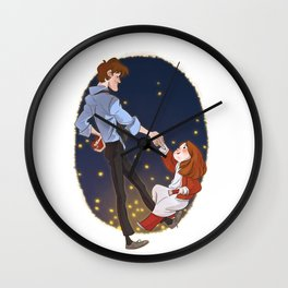 Little Amelia and her Raggedy man. Wall Clock