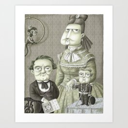 Miss Annie, P.T. and Commodore Nutt Art Print