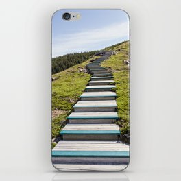 stairs up the hillside iPhone Skin
