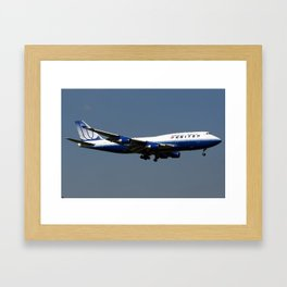 United Airlines Boeing 747-422 Framed Art Print