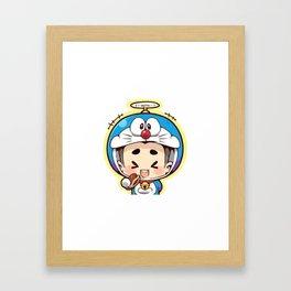 Doraemon chibi cosplay Framed Art Print
