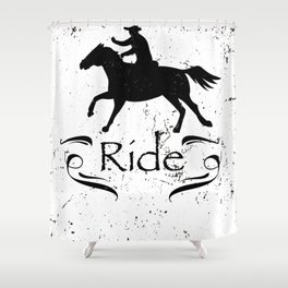 Horse Riding Gift For Horse Lover Shower Curtain