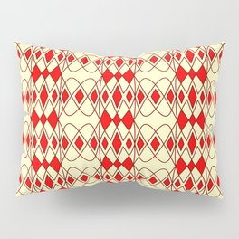 Red Lace Corset Diamond Abstract Geometric Lines Yellow Butter Cream Southwestern Design Pattern Pillow Sham